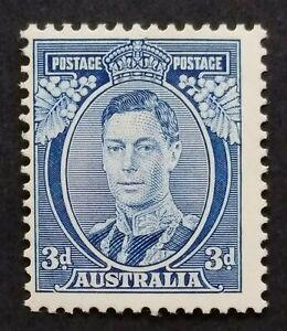 SG168a - 1937 Australia KGVI White Wattles Blue 3d MNHOG Stamp - CV £170 - 698a