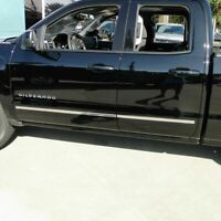 2014-2018 GMC Sierra Double Cab Body Side Molding Stainless Trim Overlay