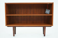 (309-008) Danish Mid Century Modern Teak Bookcase Low Bookshelf Shelf