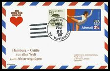 """USA CARD 1986 HAMBURG NORDPOSTA """"EIN HERZ FÜR KINDER"""" ca83"""
