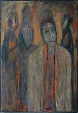 Gerhard Elsner 1930-2017: Menschen und ihre Schatten Acrylgemälde 80 x 60 cm