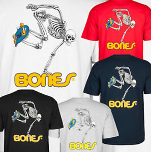 POWELL PERALTA Skeleton Skateboard Tee Shirt - BONES BRIGADE CLASSIC T-Shirt