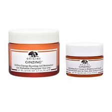 2 PCS SET Origins Ginzing Oil-Free Energy-Boosting Gel Moisturizer + Eye Cream