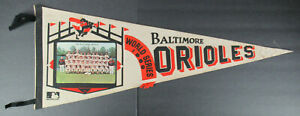 1969 BALTIMORE ORIOLES WORLD SERIES PICTURE PENNANT - FULL SIZE