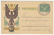 Privatganzsache Mi.-Nr. DR 206, o SSt Verkehrsausstellung München 18.8.25