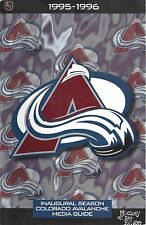 1995-96 NHL COLORADO AVALANCHE INAUGURAL FIRST YEAR MEDIA GUIDE