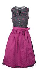 Dirndl Nadja grau pink  Trachtenkleid Damendirndl 2-teilig