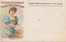 Unused postcard ~ F C Calvert's Carbolic prickly heat & bath soap