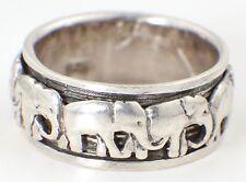Vintage Sterling 925 Silver Ring - Vintage Silver Elephant Ring 1970s