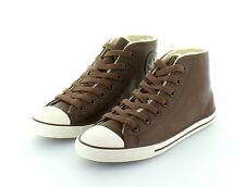 Converse All Star Chuck Taylor Hi Fancy Chocolate Leather gefüttert  Gr. 37,5