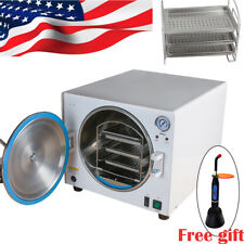 18L Dental Medical Autoclave Steam Pressure Sterilizer Lab Machine+ Curing light