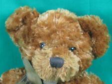 Harvest Moon Russ Chestnut Brown Gold Striped Bow Teddy Bear Plush Stuffed Soft
