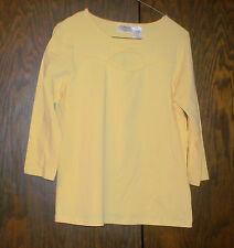NWT- Maternity Announcements yellow LS shirt-M