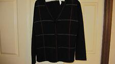 FIELDS PETITES black 6 button cardigan size S  EUC