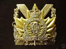 Canada Canadian Armed Forces military The Perth Regiment metal cap badge QC