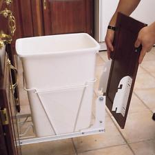 Kitchen Under Sink Cabinet Trash Can Slide Out Waste Garbage Hardware Mount Kit