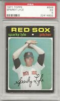 SET BREAK -1971 TOPPS #649 SPARKY LYLE,  PSA 5 EX, BOSTON RED SOX, L@@K !