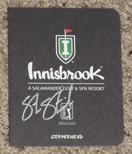 STEVE STRICKER Autographed INNISBROOK Scorecard-VALSPAR CHAMPIONSHIP