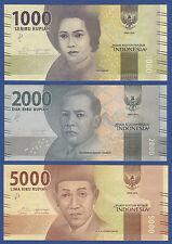 INDONESIEN / INDONESIA 1000,2000,5000 Rupiah 2016  UNC  P.NEW