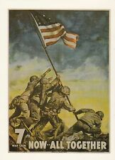"*WWII Loan--AD--Postcard-""Now-All-Together"" Picture on Postcard/ (U2-502)"