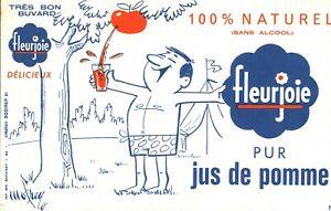 Buvard vintage pur jus de pomme Fleurjoie