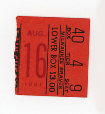 Warren Spahn Win #301 Ticket Stub, 1961 Braves vs Pirates, 5 HOFrs
