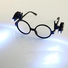 Black LED Flexible Eyeglasses Clip-on Reader Night Light Reading Lamp Decor-