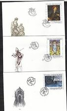 CZECH REPUBLIK  2002 FDC SC#  3188 - 3190  Painting - Art