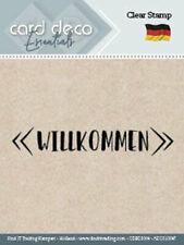 Willkommen - Textstempel - ClearStamp von Card Deco (CDECS004)