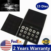 15 Dies Watch Back Case Opener Die Set/Kit For Watch Removal Tool USA STOCK