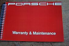Porsche 911 993 Carrera garantie pflegepass /& maintenance Manuel d/'entretien en anglais