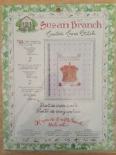 New Bucilla Susan Branch Counted Cross Stitch 42949 Apple Basket