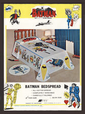 BATMAN Vintage 1966 Twin Bedspread Robin Joker Penguin Riddler Batmobile RARE!