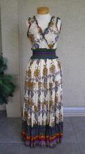 Cassee's Southwest Indian Boho Dress Cowgirl Western Turquoise, S (Bila)