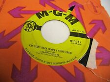 """Carson Robison I'm Goin' Back/Will Someone Please Tell Me 7"""" 45 rpm MGM VG"""