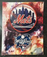 """GARY CARTER AUTOGRAPHED SIGNED AUTO BASEBALL PHOTO 8x10 8""""X10"""" METS WORLD SERIES"""