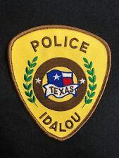IDALOU TEXAS POLICE PATCH--B03