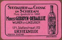 Playing Cards Single Card Old Vintage GODDYN-DEBAILLIE Advertising COGNAC BRANDY