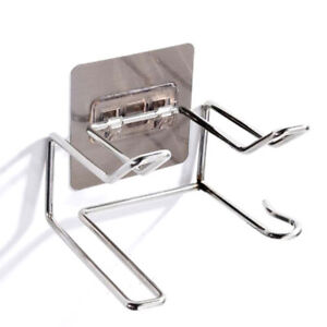 Stainless Steel Hair Dryer Holder Wall Mounted for Bathroom Organizer)