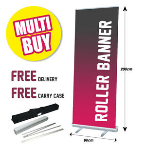 Printed Roller Banner Multibuy/Bulk - Pop/Roll/Pull up Exhibition Display Stand