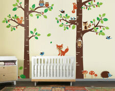 Nursery Wall Decal Forest Woodland Animals Critters Squirrel Children Room Decor