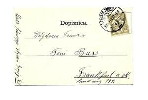 Grußkarte Agram-Nationaltheater-1905- Zagreb-Stpl auf Ungarn-Frankatur !!