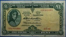 More details for irish £1 note lady lavery central bank of ireland 1963 02x prefix issue 1974