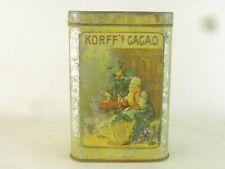 43459 Old Vintage Antique Tin Can Food Tea Cocoa Caddy oud cacaoblik Dutch