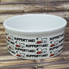 "Snoopy Pet Bowl 4.5"" Stoneware Dog Food Water Suppertime Gibson Peanuts"