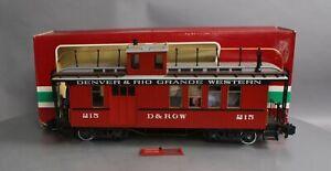 LGB 4075 G Denver & Rio Grande Western Deluxe Drovers Caboose - Metal Wheels/Box