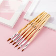 Size 2 4 6 8 10 12 Set Pack of 6 Professional Round Nail Art Brush