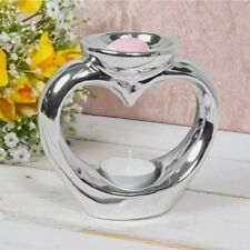 Wax Melt Oil Burner Tealight Holder SILVER  Diffuser Ornament Aromatherapy Gift