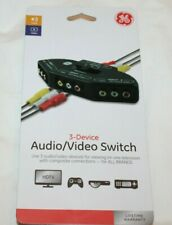 General Electric Black 3-Device Audio/Video Switch