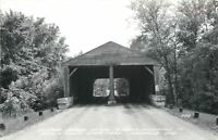 Nashville Indiana~Covered Bridge~Entrance to Brown County State Park~1950s RPPC